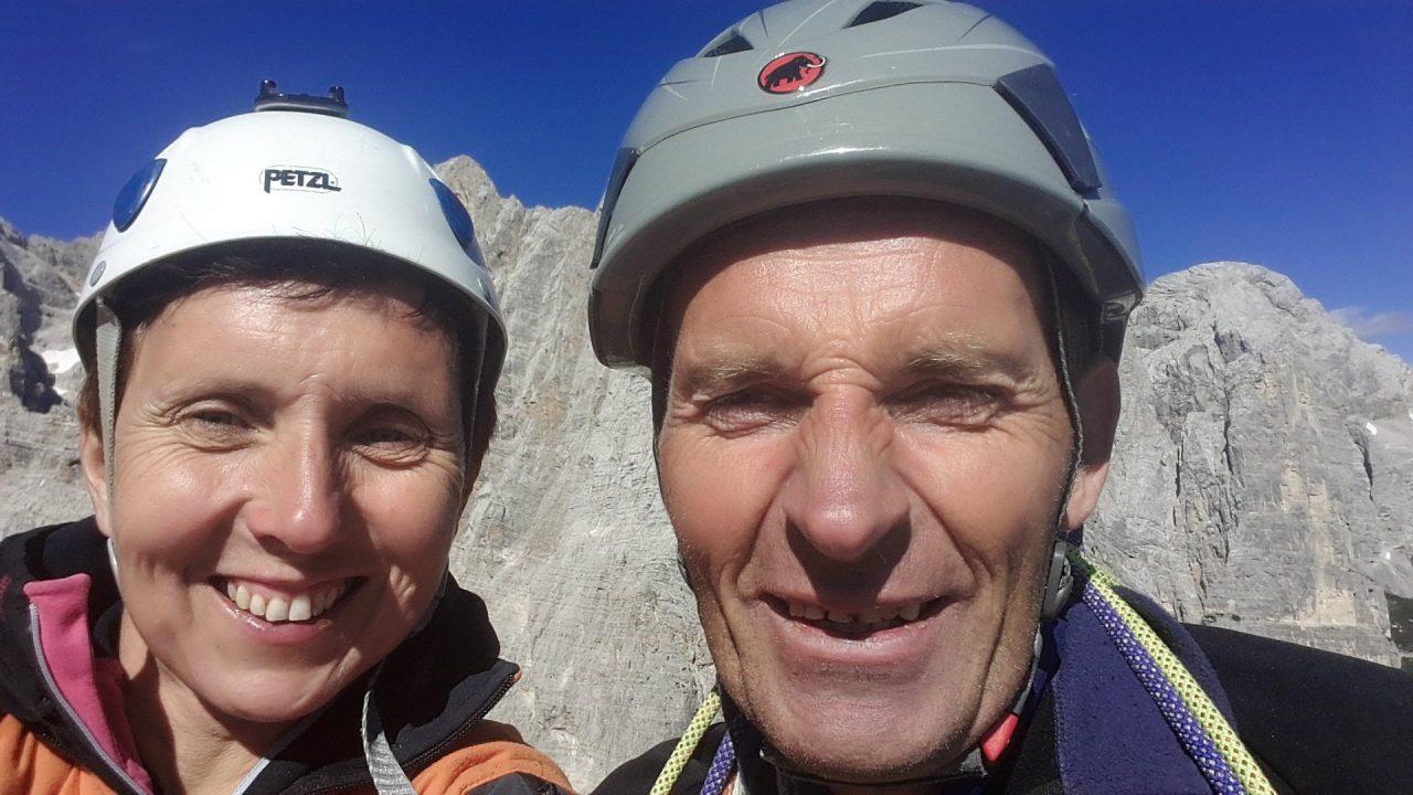 Jelka in Mirko najbrž na vrhu Torre Venezia