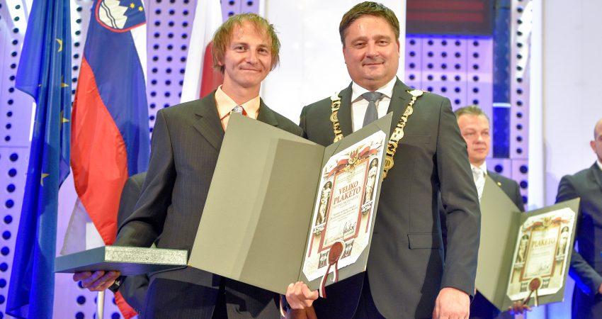 Miha Zupin, načelnik AO Kranj in Boštjan Trilar, župan MOK. Foto: Gregor Eržen