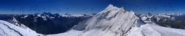 Panoramski razgled z vrha Bishorna. Foto: Ph. Rick B. Vir: summitpost.org