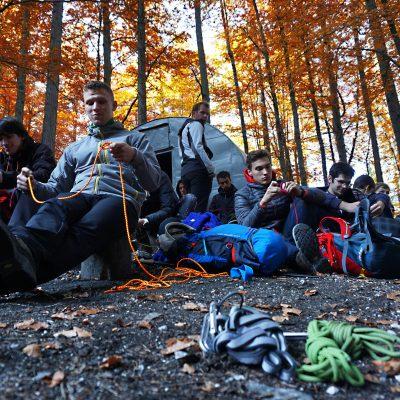 Ponavljanje vozlov. Foto: Matevž Maček, mmmedia