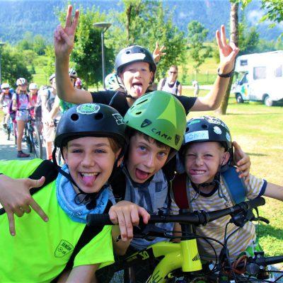 kolesarji Mark, Lovro, Tim in Jaš