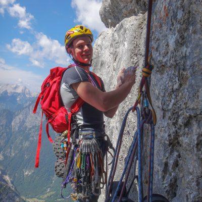 Njegova mladostna energija, spretnost, zagnanost in ljubezen do plezanja so mi bili v velik navdih. Vršac – Puntarska 3.7.2015